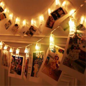 LED Photo Clip String Lights Home Decor- bedroom decor