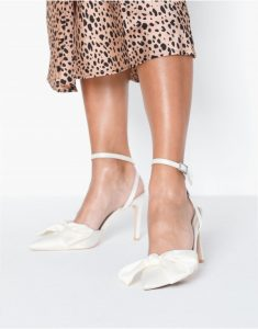 Satin Bow Heel - most comfortable shoes to wear to work