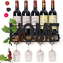 SODUKU Wall Mounted Metal Wine Rack- statement home decor pieces