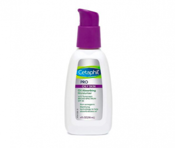 Cetaphil oil-absorbing moisturizer with SPF 30