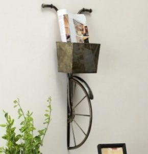 Vintage Cycle with Basket 3D Wall Decor - Wall hanging