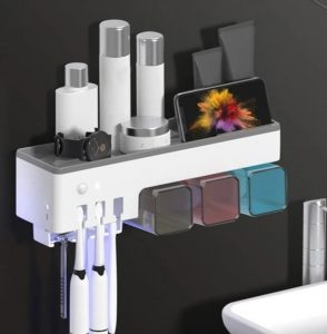 Tooth brush holder- sanitizing gadgets