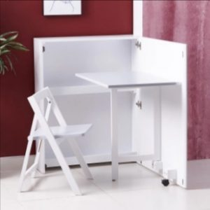 Folding desk with chair- multipurpose space saving