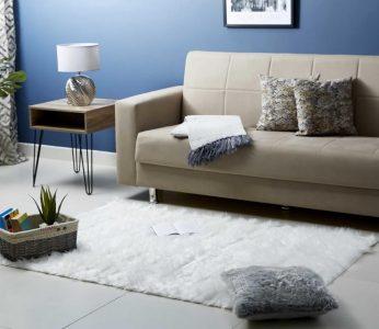 Furry rug- home decor piece