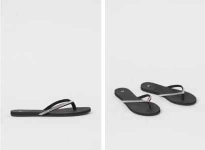 Rhinestone flip-flops