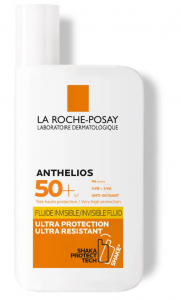 Skincare products sunscreen