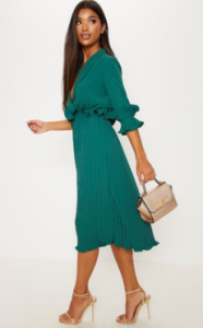 emerald green dress fro VogaCloset