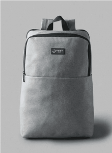 noon-east-Casual-Polyester-Laptop-Backpack-With-Trolley-Belt-Grey-online-in-Dubai