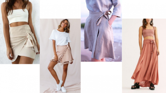 Wrap skirts in Summer trend in CouponCodesMe
