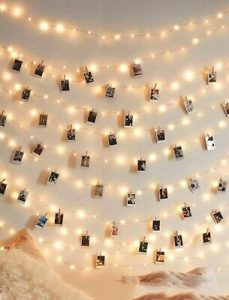 40pc string lights- with hanging clips